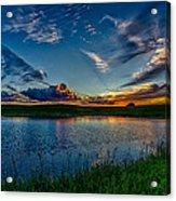Sunset In Montana Acrylic Print
