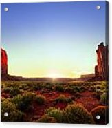 Sunset In Monument Valley Acrylic Print