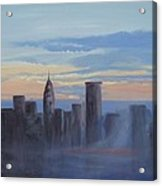 Sunset In New York Acrylic Print