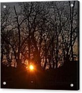 Sunset In Olde Town Acrylic Print