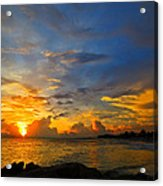 Sunset In Paradise - Beach Photography By Sharon Cummings Acrylic Print by Sharon Cummings