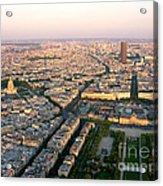 Sunset In Paris Acrylic Print