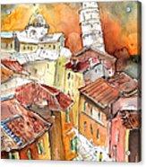 Sunset In Pisa Acrylic Print
