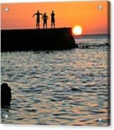 Sunset In Porto Da Barra Acrylic Print