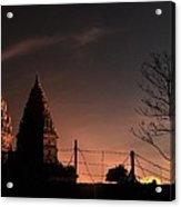 Sunset In Prambanan Acrylic Print by Achmad Bachtiar