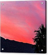 sunset in PS Acrylic Print