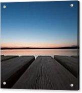 Sunset In Pula Acrylic Print