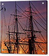 Sunset In San Diego Harbor Acrylic Print