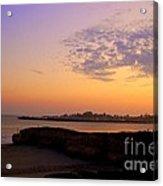 Sunset In Santa Cruz California  Acrylic Print by Garnett  Jaeger