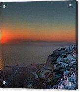 Sunset In Santorini, Greece Acrylic Print