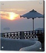 Sunset In Santorini Acrylic Print