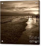 Sunset In Sepia Acrylic Print by Jeff Breiman