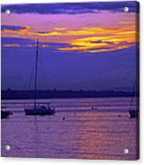 Sunset In Skerries Harbor Acrylic Print