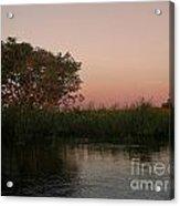 Sunset In Teh Pantenal Acrylic Print