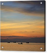 Sunset In Thailand. Acrylic Print