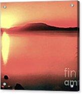 Sunset In The Balaton Lake Acrylic Print