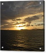 Sunset In The Caribbean Acrylic Print