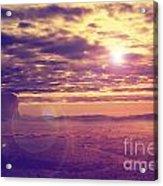 Sunset In The Desert Acrylic Print by Jelena Jovanovic