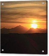 Sunset In The Eastern Desert Sahara Egypt Acrylic Print