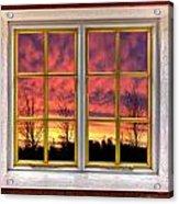 Sunset In The Garden Acrylic Print