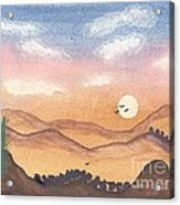 Sunset In The Hills Acrylic Print