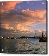 Sunset In The Port Acrylic Print