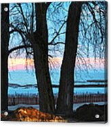 Sunset In The Trees Acrylic Print