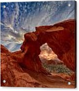 Sunset In The Valley Of Fire Acrylic Print