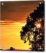 Sunset In The Valley Acrylic Print