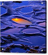 Sunset In Tide Pools Acrylic Print