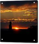 Sunset In Utah Acrylic Print