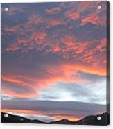 Sunset In Vail Colorado Acrylic Print