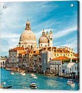 Sunset In Venice Acrylic Print