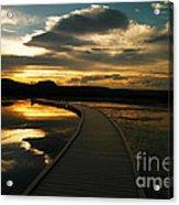 Sunset In Yellow Stone Acrylic Print