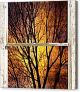 Sunset Into The Night Window View 3 Acrylic Print