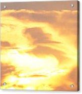 Sunset Jesus Acrylic Print
