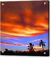 Sunset Key Largo Filtered Acrylic Print