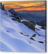 Sunset Light On The Snow Acrylic Print