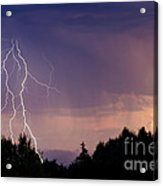 Sunset Lightning Acrylic Print