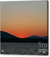 Sunset Lines Of Lake Umbagog  Acrylic Print
