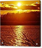 Sunset Love At Crosswinds Acrylic Print