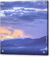 Sunset Low Clouds Acrylic Print