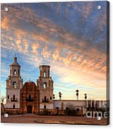 Sunset Majesty Mission San Xavier Del Bac Acrylic Print