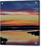 Sunset Marsh Acrylic Print