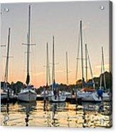 Sunset Masts Acrylic Print