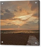 Walkway To The Sunset Acrylic Print