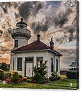 Sunset Mukilteo Lighthouse Acrylic Print