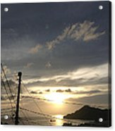 Sunset Near Fort Charlotte Acrylic Print