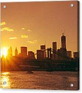 Sunset - New York City Acrylic Print