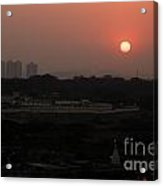 West Skyline Of Pune Acrylic Print